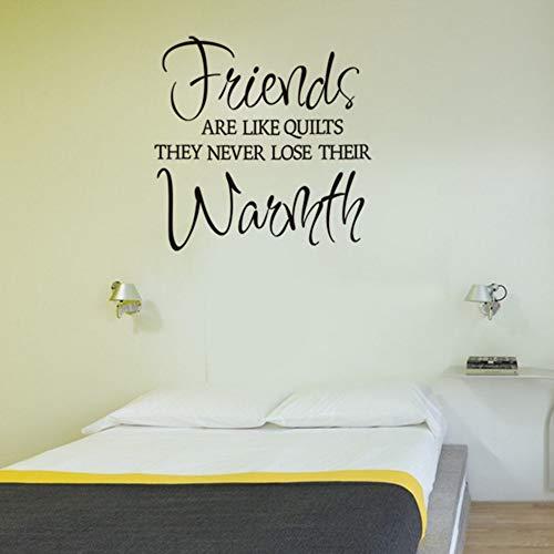 Freunde sind wie quilts vinyl wandtattoo zitate wohnkultur wohnzimmer schlafzimmer diy kunst tapete entfernbare wandaufkleber 58x58 -