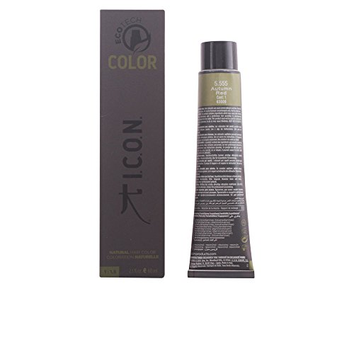 I.C.O.N. Ecotech Color Natural Color Colorazione Permanente, Unisex, 5.555 Autumn Red - 60 ml