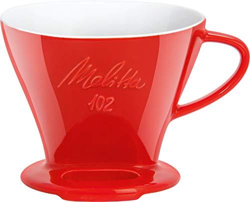 Melitta 218974 Filter Porzellan-Kaffeefilter Größe 102 Rot