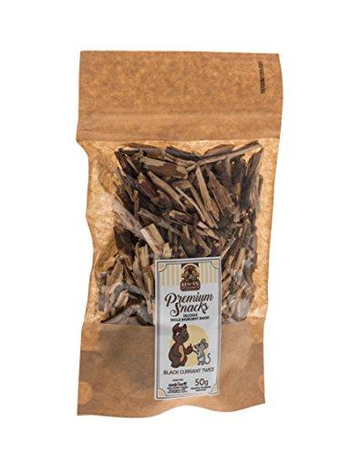 Lucas the Wombat for his Friends: Premium Snacks – Zweige der eine schwarze Johannisbeere 4 x 50 Gr - Sparset. Leckereien für alle Nager und Kanninchen.
