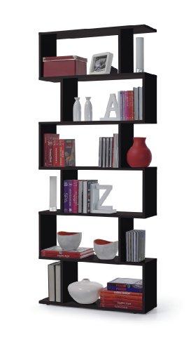 13Casa - Kafka C7 - Libreria. Dim: 80x25x192 h cm. Col: Nero. Mat: Melamina.