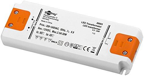 Preisvergleich Produktbild LED-Transformator 230V (AC) auf 12V (DC) für 0, 5 bis 30 Watt LED-Lampen