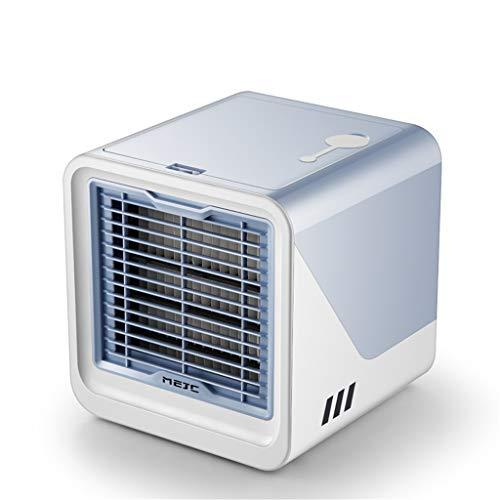 FBGood USB Mobiler Klimaanlage, Sommer Mini Desktop Luftkühler Haushalts Schlafzimmer Klimageräte Lüfter Luftbefeuchter Luftreiniger Klein Büro Wiederaufladbar Wasserkühlung Ventilator (blau) (Ice Für Kühlschrank Trays Kleine)