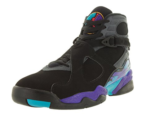 Nike - Air Jordan 8 Retro, Scarpe sportive Uomo Nero / Rosso / Grigio (Blk / Tr Rd-Flnt Gry-Brght Cncrd-)