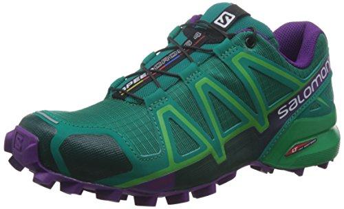 Salomon L39185900, Chaussures de Trail Femme green