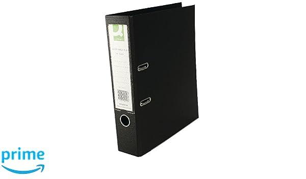 Import Royaume Uni Q-Connect KF20019 Classeur /à levier Polypropyl/ène Noir A4