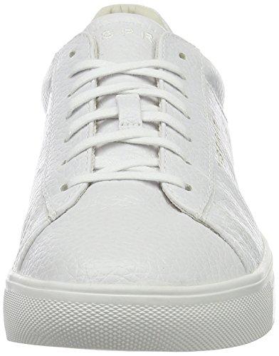 Esprit Lizette Lace Up, Sneakers basses femme Blanc (100 White)