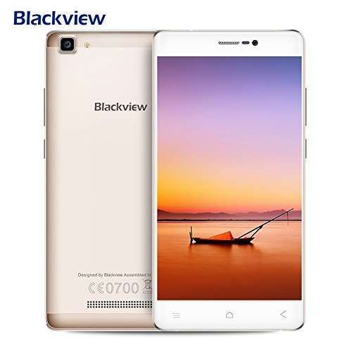 "Smartphone in Offerta, Blackview A8 MAX Offerte Cellulari Telefono,IPS 5.5"" HD, 2GB RAM + 16GB ROM + 32GB SD, Camera 5.0MP + 8.0M 3000mAh batteria Dual SIM 4G LTE Smartphone, GPS, WiFi- Oro"