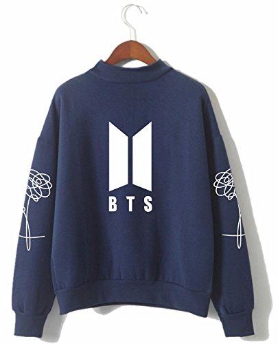 SERAPHY Unisex BTS Kapuzenpullover Bangtan Boys Love Yourself BTS Rollkragen Sweatshirts für Armee Suga Jimin Jin Jung Jook J-Hope Rap-Monster V königlich M
