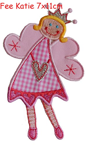 2 iron-on fabric Patches Skunk 6x8 and Fairy Katie 7x11cm TrickyBoo Design Zurich