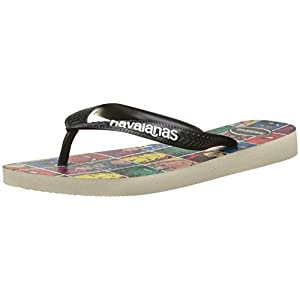 Havaianas Top Marvel Infradito Unisex Adulto, Multicolore (Beige/Black 9446) 37/38 EU