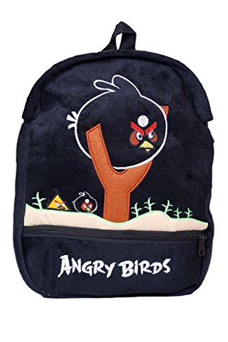 FabSeasons Angry Birds Faux Fur School Bag  available at amazon for Rs.399