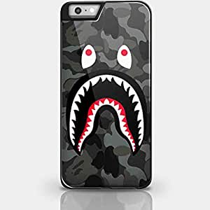 Bape Shark Black Army Pattern for Iphone and Samsung Galaxy Case (iPhone 6 plus black)