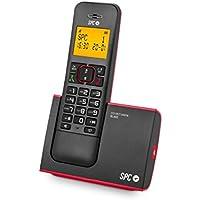 Spc Blade 7290 - Teléfono inalámbrico (DECT, 50 nombres, manos libres), color rojo y negro