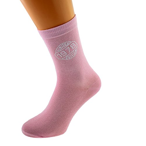 Limited Edition 1978 40th Birthday Ladies Pink Socks UK 4-8 EUR 37-41 - X6N250-1978