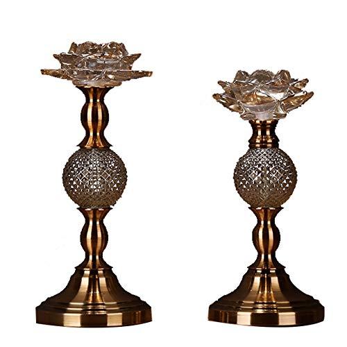 Bougeoirs Lot De 2 Cristal en Verre De Lotus, Aux Chandelles Dîner De Mariage Décoration De Table