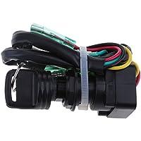 Sharplace 1 pieza Interruptor de Llave de Encendido para Motor Fueraborda Yamaha Plástico
