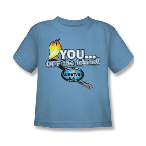 Cbs - Survivor / Sie vor der Insel! Juvy T-Shirt in Blau Carolina, Large (7), Carolina Blue