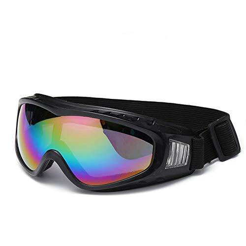 Männer und Frauen Die Brille Motorrad Reitbrille kann angepasst werden Angeln Radfahren Outdoor-Sportbrillen Sonnenbrillen Sonnenbrillen und flacher Spiegel ( Farbe : Schwarz , Größe : Free size )