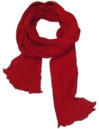 Chèche Écharpe Double Très Long 3 Mètres 100% coton Foulard rouge cerise
