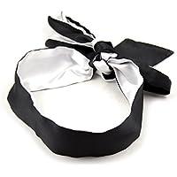 Papapai Satin Augenbinde weiche Augenmaske Band Blinder komfortable Schlafmasken (Schwarz und weiß) preisvergleich bei billige-tabletten.eu