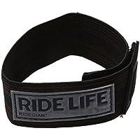 SODIAL(R) Banda Reflectante Hi Viz Clip de Pantalones Correa de Atar Tobillo para Bicicleta - Negro
