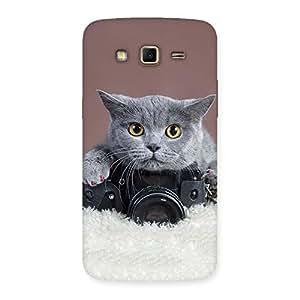Impressive Kitty Photographer Multicolor Back Case Cover for Samsung Galaxy Grand 2