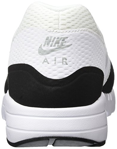 Nike Air Max 1 Ultra Essential, Chaussures de Sport Homme Blanc Cassé - Blanco (White / White-Black-Wolf Grey)