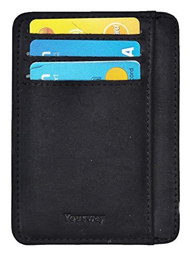 Yourway Sweden Slim Portemonnaie mit Kartenetui | Portmonaise Herren Geldbörse Männer RFID Kreditkartenetui Brieftasche Portmonee Kreditkartenhalter, Perfekt Für Geschenk