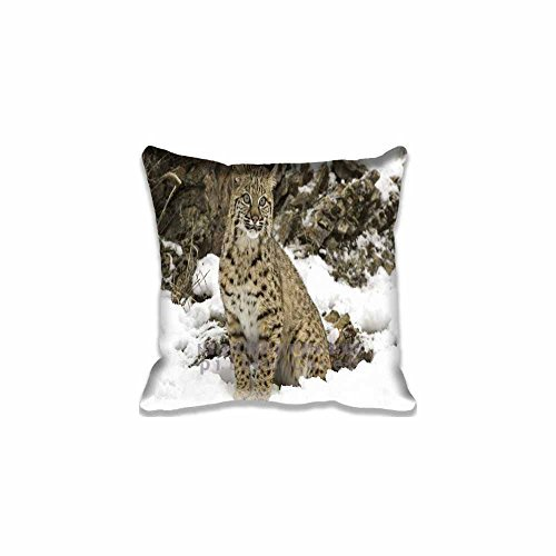 animals-wild-winter-snow-bobcat-pillow-case-pillow-protector-pillow-cushion-cover-standard-size-two-