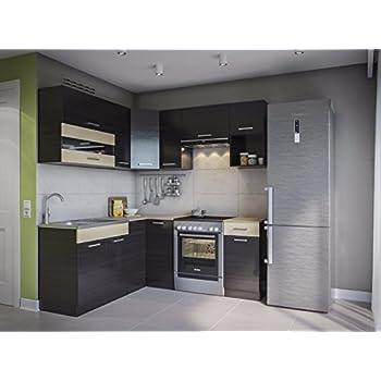 Eldorado möbel winkelküche alina 190x170 wenge l form küchenzeile eck küchenblock