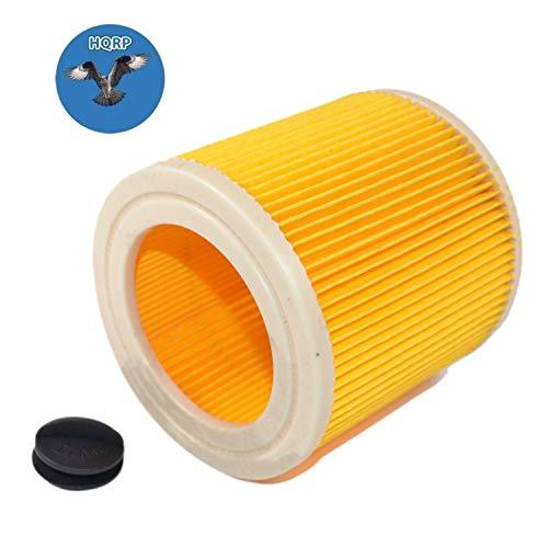 HQRP Patronenfilter für Kärcher WD 2/WD2 serie Nass- und Trockensauger, WD2 Home, WD2 Premium Mehrzwecksauger + HQRP Untersetzer