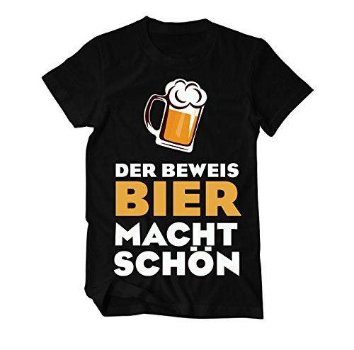 Der Beweis: Bier macht schön Fun T-Shirt Herren Schwarz