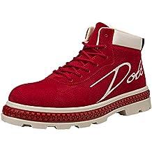 LuckyGirls Botas para Hombre Botitas Zapatillas Casual Calzado Deportivo Bambas de Hombre Zapatos de Trabajo Cargo