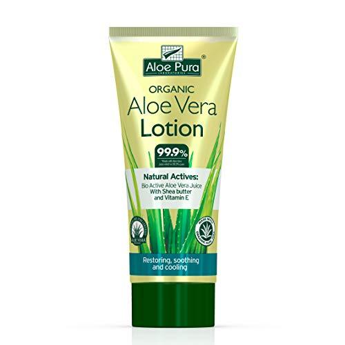 Aloe Pura Oragnic Aloe Vera Lotion mit Shea Butter & Vitamin E, 1er Pack (1 x 200 ml)