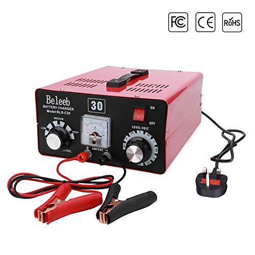 Beleeb 12V 24V 36V 48V 60V 72V Automatico Caricabatterie/manutentore per Auto, Moto, ATV, Camper, Powersports, Barca e Altro Ancora. Intelligente, Compatto ed Ecologico BLB-C30