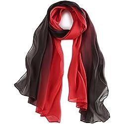 pañuelo de seda Mujer 100% seda Mantón Bufanda Señora