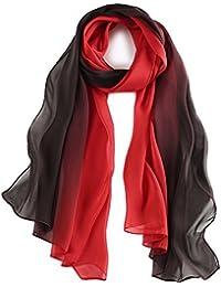 78eed41ed40b6 pañuelo de seda Mujer 100% seda Mantón Bufanda Moda Chals Señoras Elegante  Estolas Fular 70