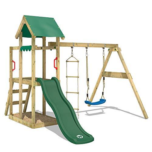 Parque infantil WICKEY TinyPlace Parque de juegos de madera con tobogán y...
