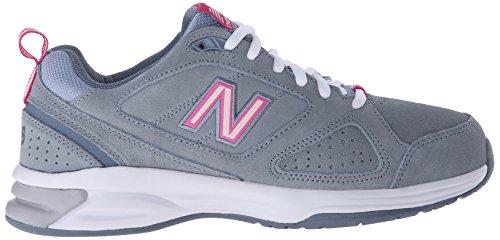 New Balance Women's WX623V3 Training Shoe, Grey/Pink, 10 B US Grey/Pink