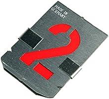 Bonum - Plantillas de números 0-9 (10 piezas, 100 mm, juego completo en DIN 1451, fabricado en Alema