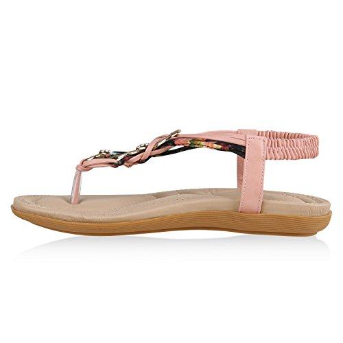 Senhoras Ouro Elegantes Verão De Strass Tiras Sandálias De De Rosa Floral Sapatos vvqfwar