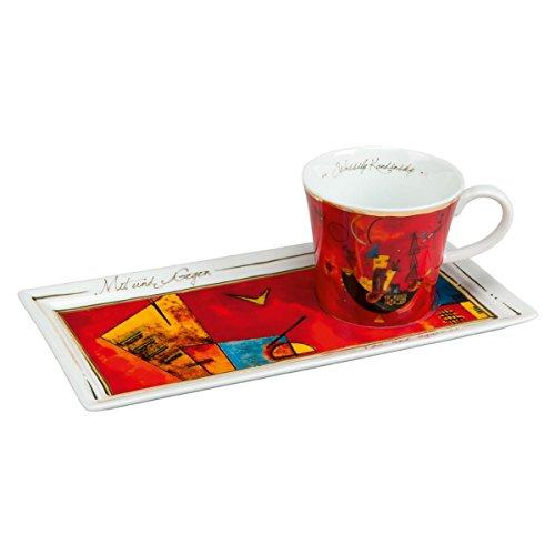 Goebel'Mit und Gegen' Kaffee Set, Porzellan, bunt 24 x 12 x 8 cm