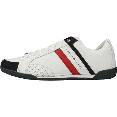 Hilfiger Mix Scatolata Homme bianco Suola Materiale Tommy Aziendale Blanc Bassi 100 Sneakers 4fwXxq