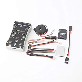 Formulaone Pixhawk PX4 Autopilot PIX 2.4.8 32 Bit Flight Controller mit Sicherheitsschalter Summer Splitter Expand Modul für DIY RC Drone - Grau & Schwarz