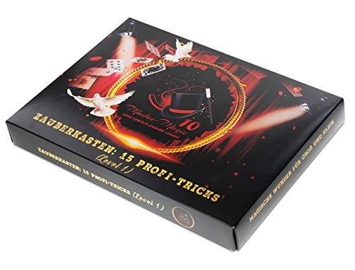 Madus-Magic Premium Zauberkasten für Kinder ab 10 Jahre und Erwachsene | Zaubern Lernen | Zaubertricks | Zauberkoffer (Für Zauberkästen Erwachsene)