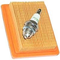 SGerste - Kit de Filtro de Aire para bujías Stihl FS120 FS200 FS250 FS300 FS310 FS350 FS400 FS450 FS480 escobilla BT120 BT121 FR350 FR450