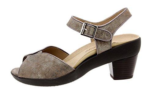 Scarpe donna comfort pelle Piesanto 8443 sandali soletta estraibile comfort larghezza speciale