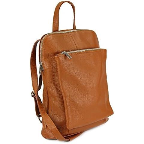Belli - Bolso mochila  de Piel para mujer Multicolor marrón