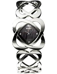 Seksy 4159.37 Ladies Hidden Hearts Swarovski Crystal and Black Mother of Pearl Bracelet Watch